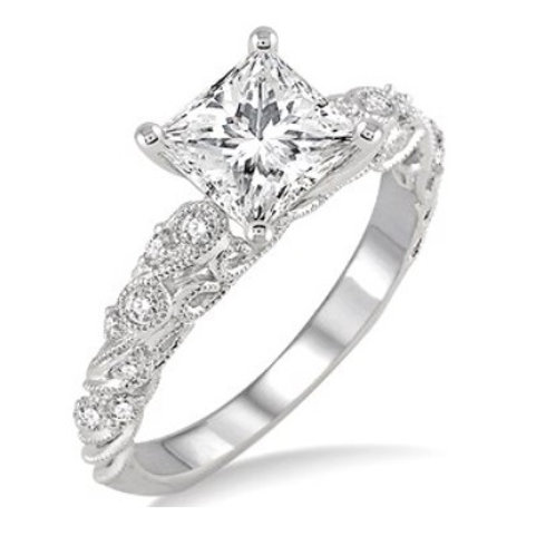 1/5 Ctw Diamond Semi-mount Ring
