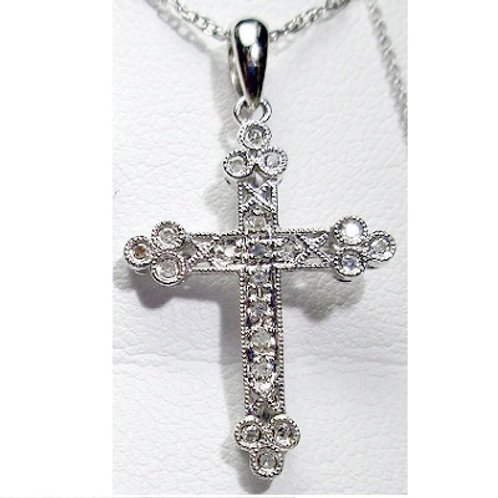 1/10 CTW Diamond Cross Pendant
