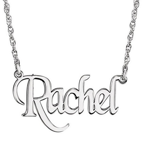 SS Block Nameplate Necklace