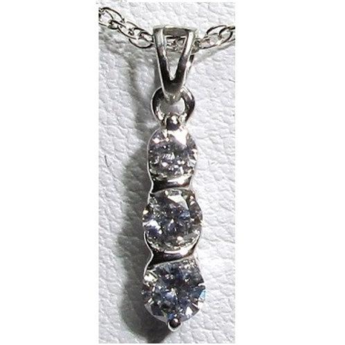 5/8 CTW Diamond 3-Stone Pendant