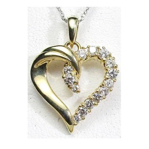 5/8 CTW Diamond Heart Pendant