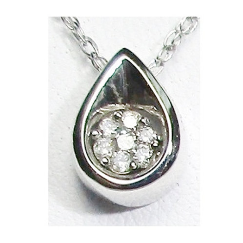 1/10 Carat Diamond Cluster Teardop Pendant