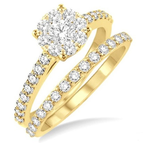 7/8 Ctw Diamond Lovebright Wedding Set