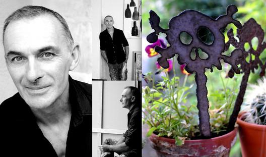 Yves Bonhomme in his studio