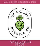 Hop and Clover Choc Cherry Stout Logo