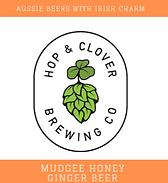 Hop and Clover Mudgee Honey Ginger Beer Logo