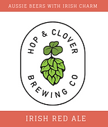 Hop and Clover Irish Red Ale Logo