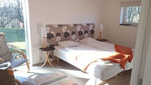 Ett av rummen på Körsbärsdalen B&B