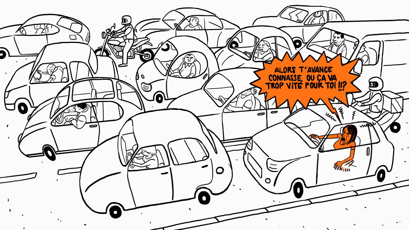 Trop d'embouteillage pour le coach
