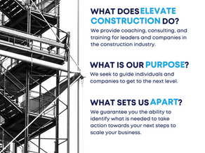 What does Elevate Construction do?