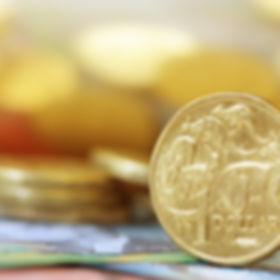 Australian money background.  Soft focus