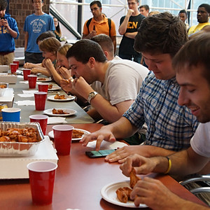 Sigma Nu's Annual Hot Wing Eating Contest