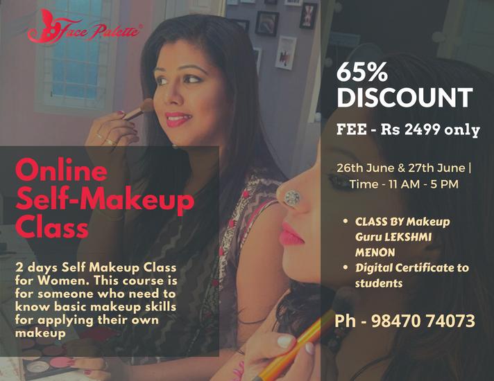 Online Self-Makeup Class By Makeup Guru Lekshmi Menon FRSA