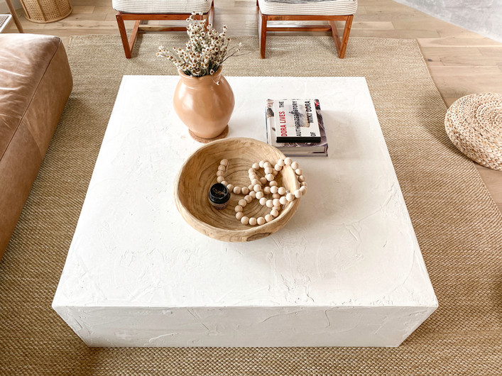 DIY Cement Block Coffee Table