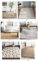 Friday Round-Up: 8x10 Neutral Rugs under $250