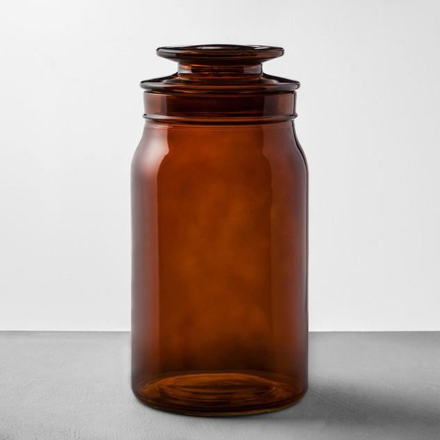 Amber Glass Jar