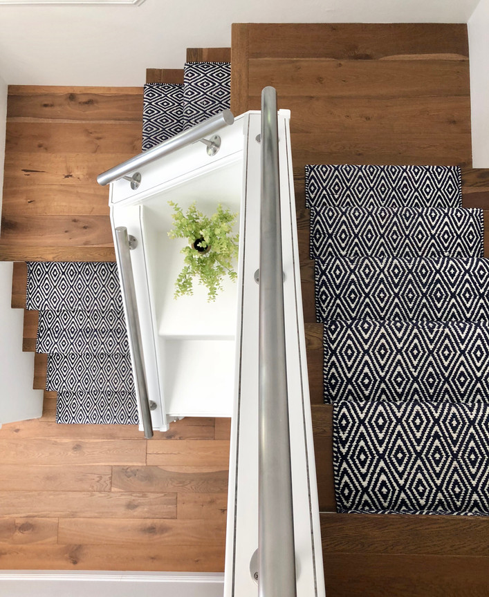Our DIY Stair Runner, 8 months later
