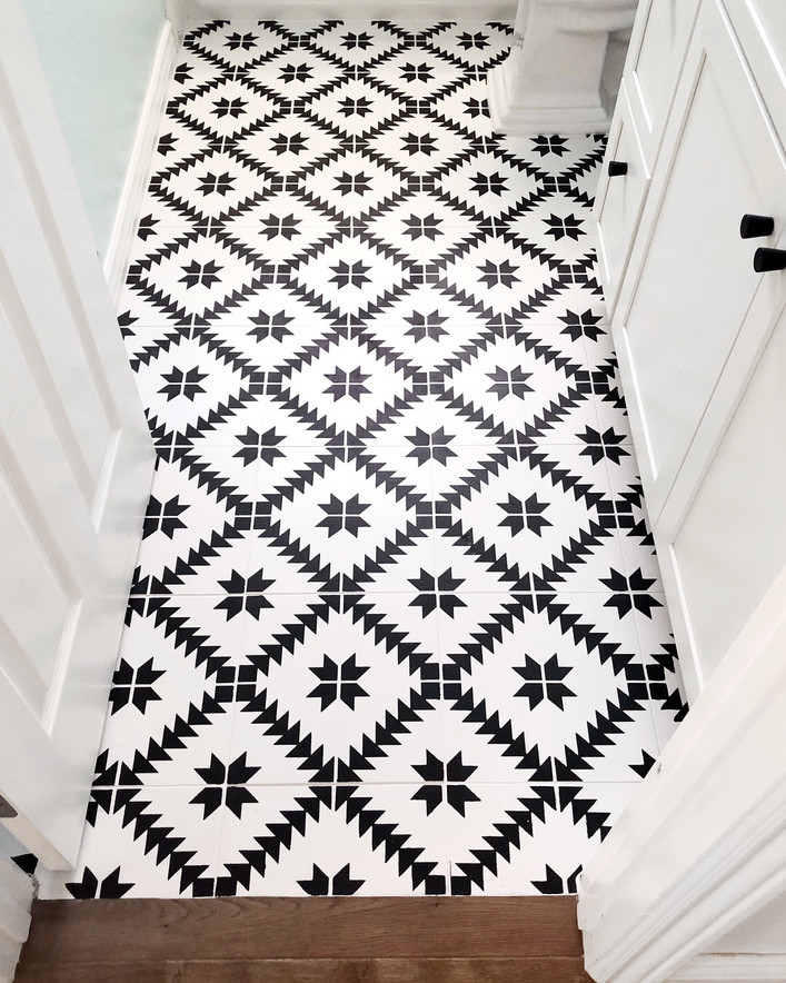 An Update on: Stenciled Tiles
