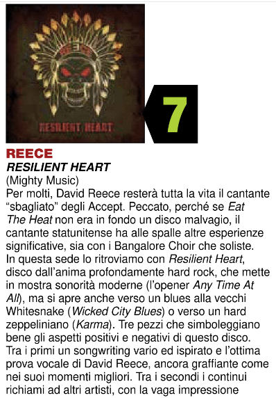 Rock Hard Italy - Dec 18 - Reece review