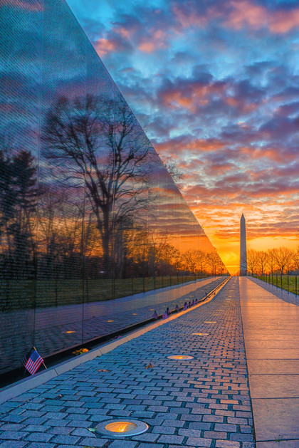 Sunrise at the Vietnam Memorial