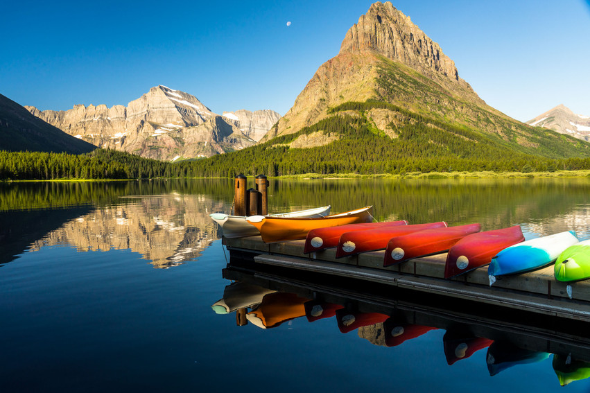 Canoes at Swift Current Lake