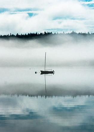 Boat in the fog