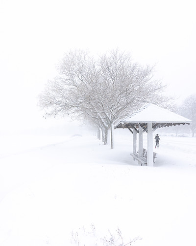 Jogging in the blizzard