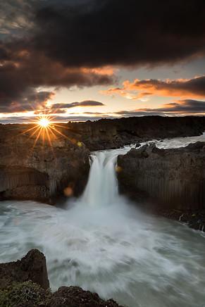 Sunrise at Aldeyjarfoss