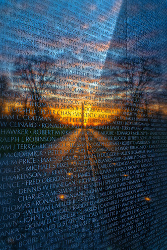 Reflection of the Monument in the Vietman Memorial