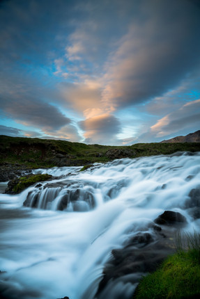 Water flowing in Northern Iceland