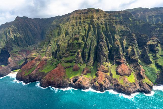 Cathedral Cliffs, Napali coast, Kauai