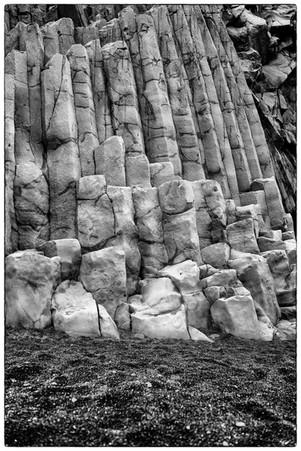Basalt rock wall