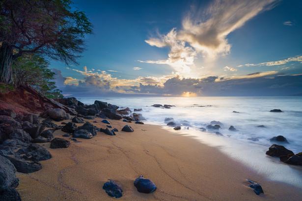 Sunset at a beach, Maui