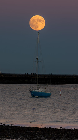 Super Moon over South Boston