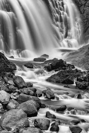 Another waterfall in B&W