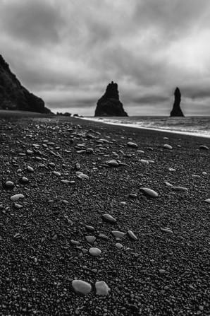 Reynisdrangar (rock columns) off Reynisfjara Beach
