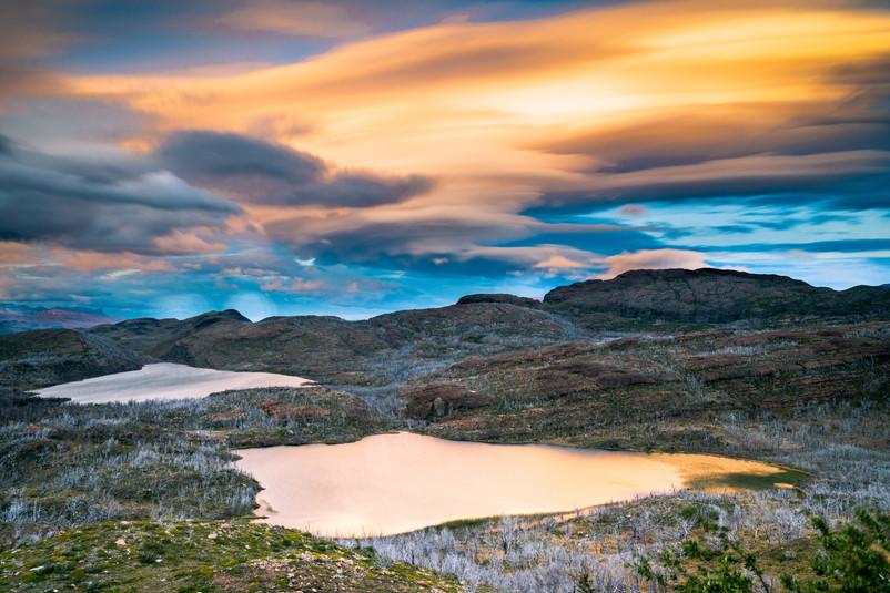 Sunset from Mirador del Condor