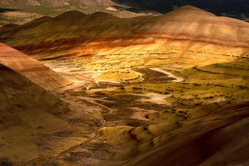 Dappled light Painted Hills