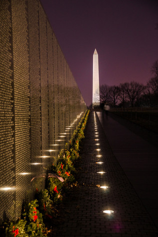 Monument from the Vietnam Memorial