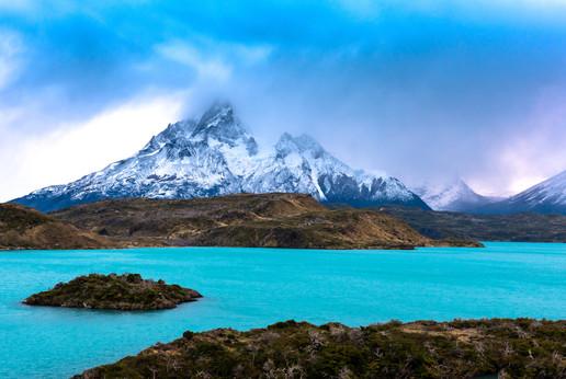 Dark Mountains and Glacier Milk Blue