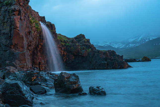 Waterfall by the sea
