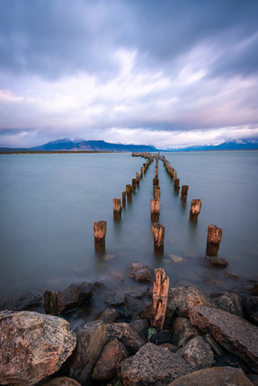 Remains of a pier