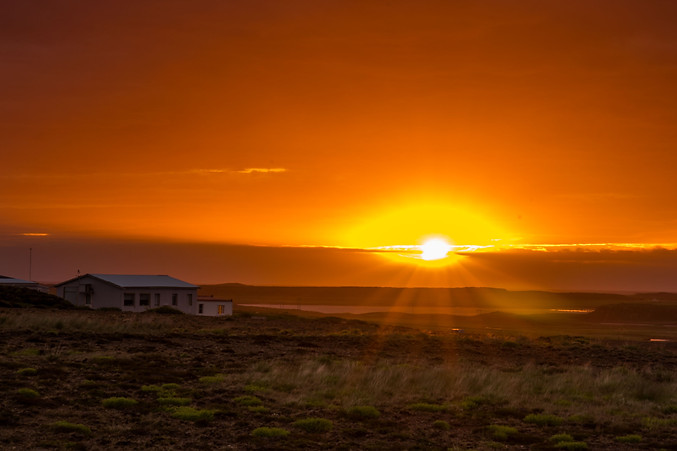 Sunset (at midnight) in Iceland