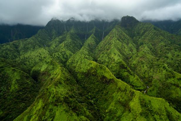 Waterfalls and ridges, Maui