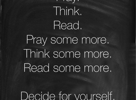 Pray, Think, Pray More
