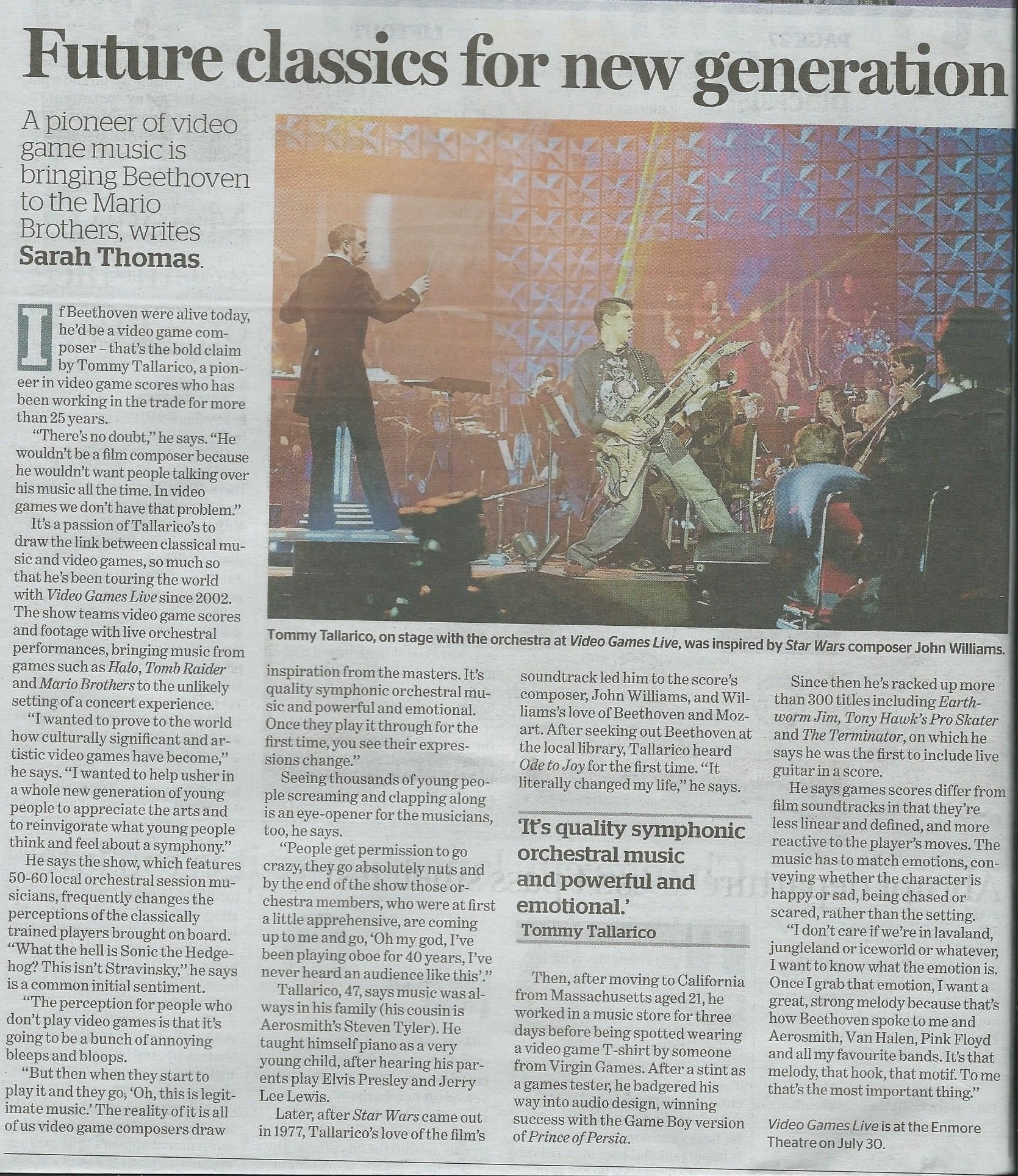 Video Games Live in SMH - 28th  July