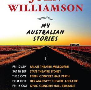 John Williamson announces new capital city tour Sept/Oct 2021
