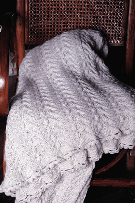 "Throw Blanket ""Larch"", Royal Alpaca undyed"