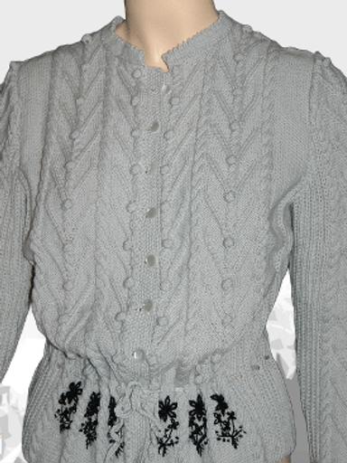 "Trachten Cardigan ""Lake Louise"" grey - pure wool"