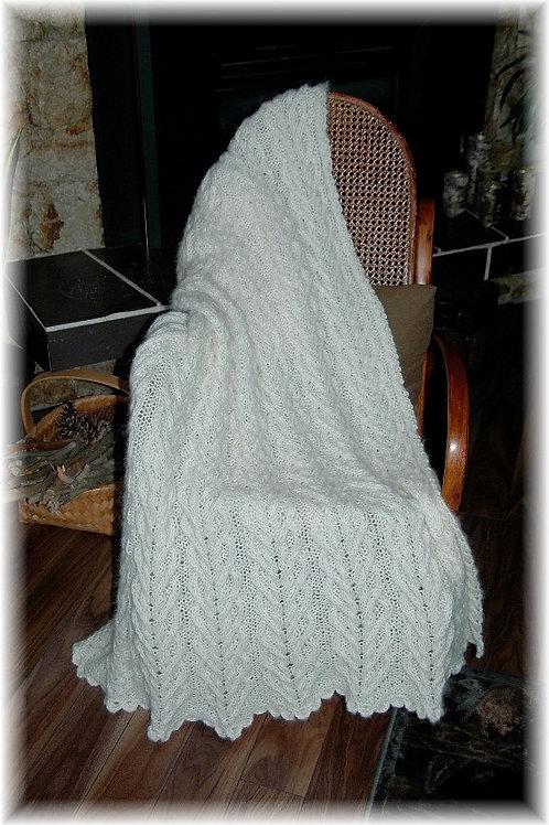 "Throw Blanket ""Larch, Baby Alpaca & Acrylic"